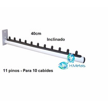 Cabideiro Arara Rt Branco De Parede 40cm- Kit C/ 10 Pcs