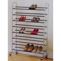 Sapateira Para Até 40 Pares De Sapato Em Aço Cromado