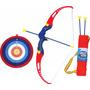 Conjunto Arco E Flecha Infantil Aljava + 3 Flechas + Alvo