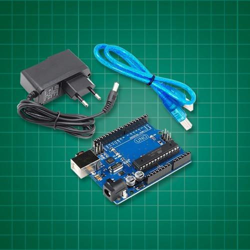 Arduino Uno + Fonte + Cabo Usb + Ebook