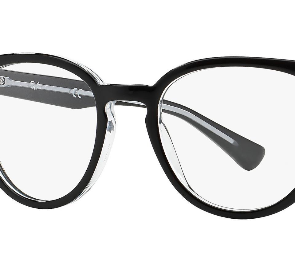 57be43866fe92 Armação Óculos De Grau 5311 Da Ray Ban Redondo Preto - R  113,00