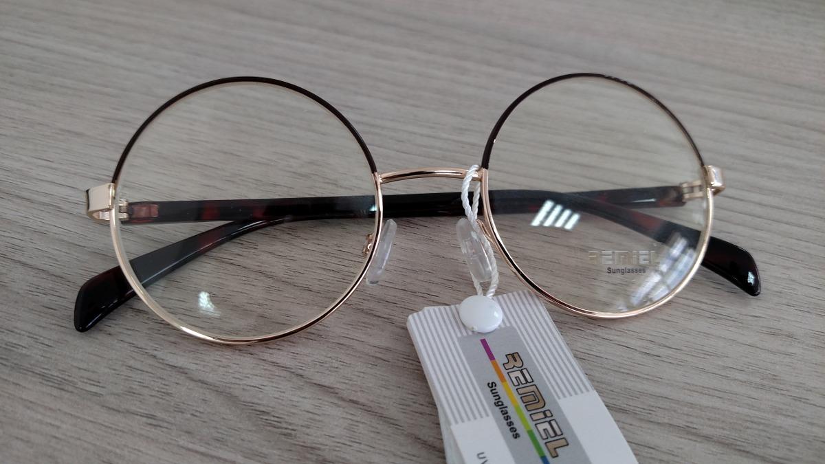 d6d67be5f Armação Óculos De Grau - Redondo Metal Retrô Vintage - R$ 99,99 em Mercado  Livre