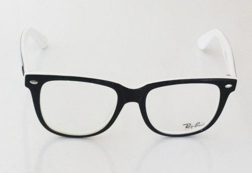 aa0737370 oculos de grau ray ban preto e branco | ALPHATIER