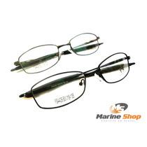 Armação Esportiva Curvada Grafite / Preta - Óculos P/ Grau