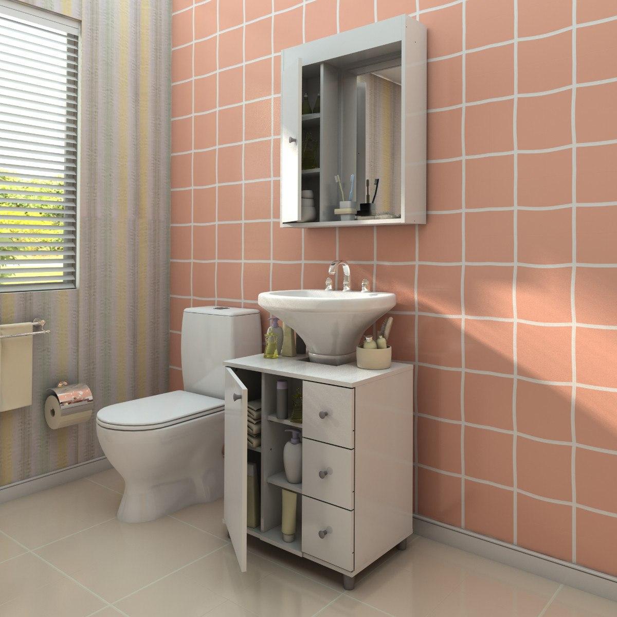 Armário Aéro Para Banheiro  R$ 210,00 no MercadoLivre -> Forrar Armario De Banheiro