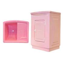 Tanque 25 Litros Com Gabinete Fibra Rosa