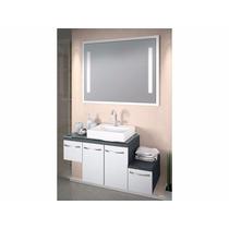 Conjunto Inovatta 100 X 41cm C/ Cuba E Espelho Com Luminária