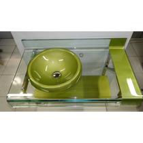 Gabinete Vidro Banheiro Diversas Cores - Est. Chopin 90x53