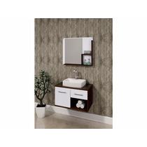 Balcão Para Banheiro Itapema 70x41cm Com Cuba E Espelho