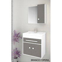 Gabinete / Armário P/ Banheiro Vegas - Balcão+espe+cuba 50cm