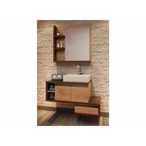 Balcão Para Banheiro Dunas 100x55cm Com Cuba E Espelho
