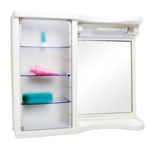 Armário Para Banheiro Branco Com Luminária - Mebuki