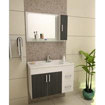 Gabinete / Armário Para Banheiro Cremona 80 Cm