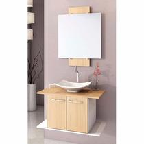 Balcão Para Banheiro 65cm Ciliegio Melfi