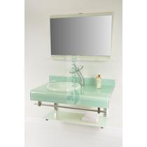 Gabinete De Vidro 90 Cm Banheiro Branco