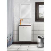 Conjunto P/ Banheiro Tully Sevilha 45cm + Espelho + Pia 101