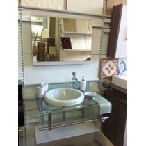 Gabinete De Vidro Branco 70 Cm Banheiro