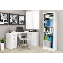Mesa 4102 Madeira Para Escritório ( Completo) - Branco L