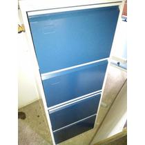 Armário De Arquivos Azul E Cinza