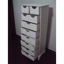 Organizador ( Gaveteiro ) Com 10 Gavetas Na Pintura Branca
