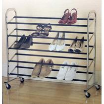 Sapateira Para 25 Pares De Sapatos Aço Cromado - Import