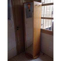 Estante/sapateira Giratória C/ Espelho E Prateleiras 57x181