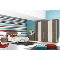 Dormitório Casal Calenda Roupeiro 6 Portas 4 Gavetas Henn
