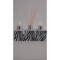 Kit Vidro Cubo Zebra 100 Ml , Válvula- Tampa Difusor E Spray