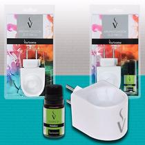2 Aromatizador Elétrico Difusor Ambiente Via Aroma Bivolt