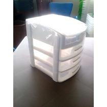 Gaveteiro Organizador Plástico De Mesa Com 3 Gavetas