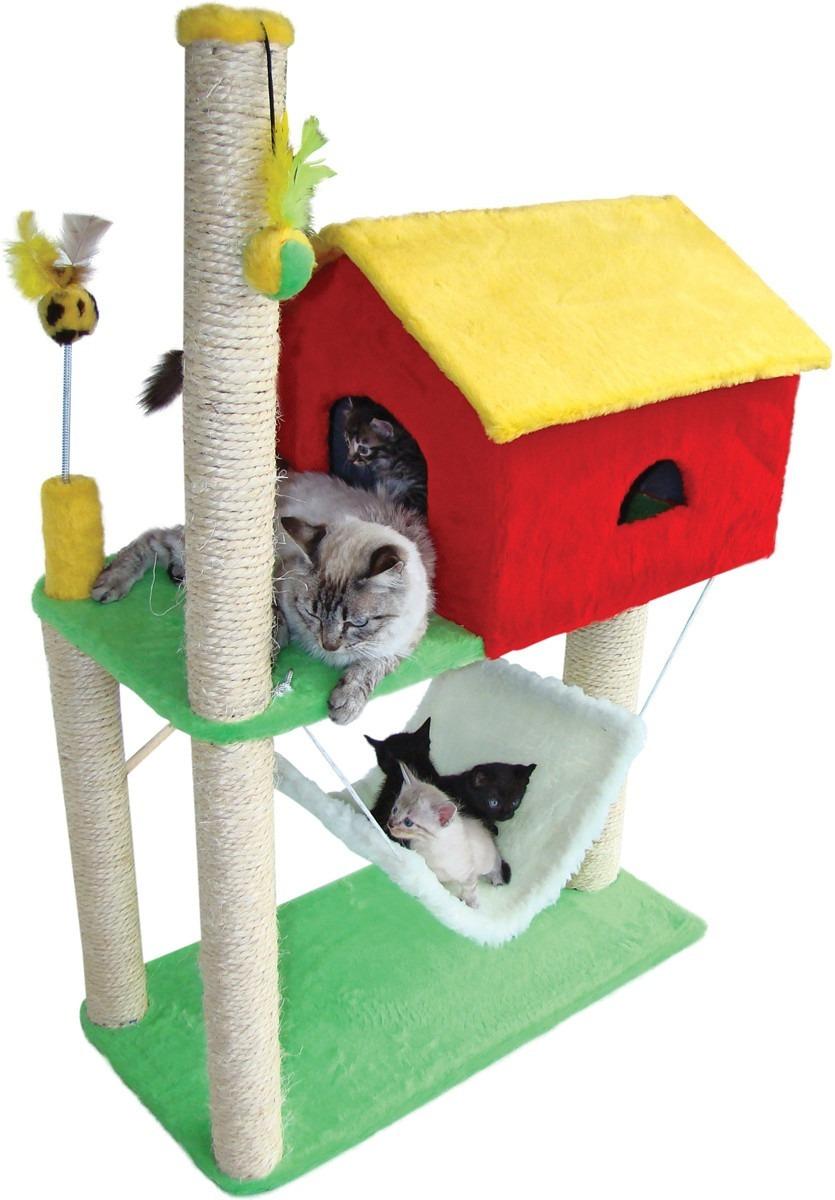 Arranhador para gato casa com rede r 213 99 em mercado - Casa para gato ...