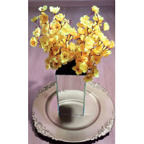 Flores Artificiais Para Arranjos Decoração De Festas Branco