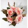 Flores Artificiais Para Arranjos Decoração De Festas Rosa