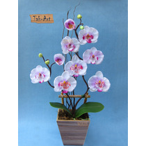 Flores Artificiais - Arranjo De Orquídea Branca