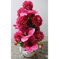 Arranjo Flores Artificiais - Pink / Rosa - Buquê Fantasia