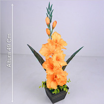 Arranjo Gladíolos 49 Cm Diversas Cores - Flores Artificiais