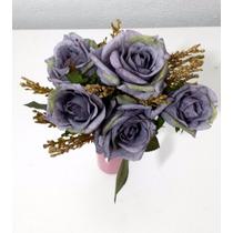 Flores Artificiais Para Arranjos Decoração De Festas Azul