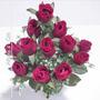 Bq C/12 Botões De Rosas 41 Cm Cor Diversa - Flor Artificial