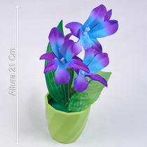 Arranjo Orquídea 21 Cm Cores Diversas - Flores Artificiais