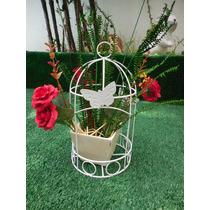 Decoração - Gaiola Com Flores Artificiais