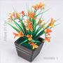 Arranjo Mini Flores Plástico 21 Cm Cores Diversas