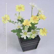Arranjo Mini Margarida 18 Cm - Flores Artificiais