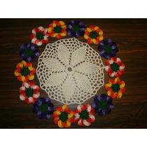 Toalha De Centro Em Crochê Beleza Das Flores