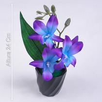 Arranjo Orquidea 24 Cm Cores Diversas - Flores Artificiais