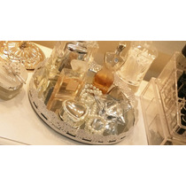 Bandeja Espelho P/ Perfumes Cosmético Penteadeira + Mimo!!!