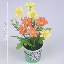 Arranjo Mini Margarida 17 Cm - Flores Artificiais