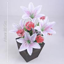 Arranjo Com Lírios 35 Cm Cores Diversas - Flores Artificiais