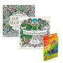 Livros Jardim Secreto E Floresta Encantada + Lápis Cor 36