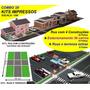 Combo 3x Kits Impr Maquete: Casas+estacionamento+ruas Extras
