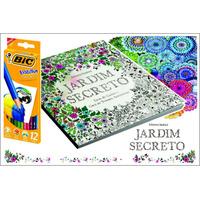 Livro Jardim Secreto Grátis Caixa De Lápis De Cor